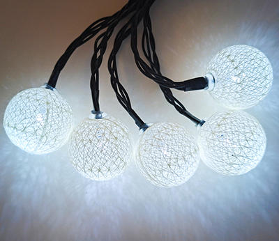 BO 10LED cotton ball  white indoor  DD-1024