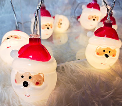 Led Christmas Trees Decoration Santa Claus String Fairy Light