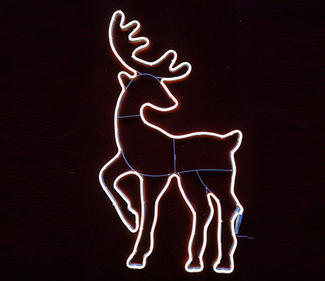 warm white neon light deer  DD-2076