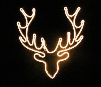 warm white neon light deer head  DD-2079