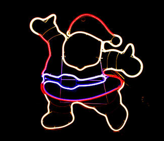 multi neon light santa  DD-2084