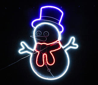 multi neon light snowman  DD-2085