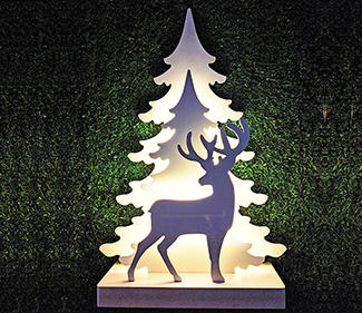 PVC board tree with deer 59LED size53x16x78cm  DD-3019