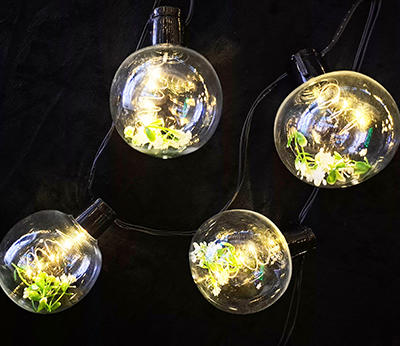 micro LED party lights with flower inside warmwhtie  DD-3026